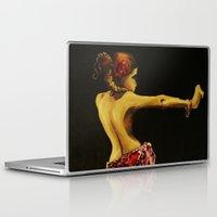 "dancer Laptop & iPad Skins featuring Dancer by Barbora ""Mad Alice"" Urbankova"