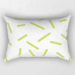 Green confetti Memphis pattern  Rectangular Pillow