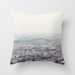 Paris top view Throw Pillow