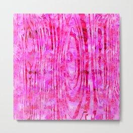 Pink Wood Print Metal Print