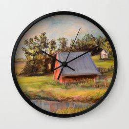 Nestled in the Farmland Wall Clock