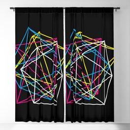 Octahedron CMYK (dark) Blackout Curtain