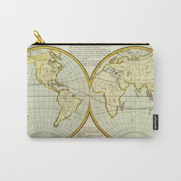 Vintage Map of The World (1787) Carry-All Pouch
