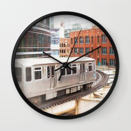 Chicago Train Photography - 3426 Wall Clock