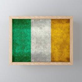 Republic of Ireland Flag, Vintage grungy Framed Mini Art Print