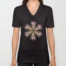 Flemish Floral Mandala Unisex V-Neck