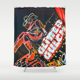 Las Vegas Cowgirl Shower Curtain