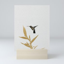 Hummingbird & Flower II Mini Art Print