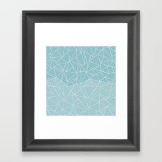 Ab Half and Half Salt Framed Art Print