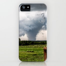 Siren - Large Tornado In Texas Panhandle iPhone Case