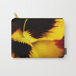 A yellow pansy flower Carry-All Pouch