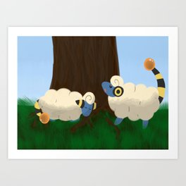 Mareeps At Play Art Print