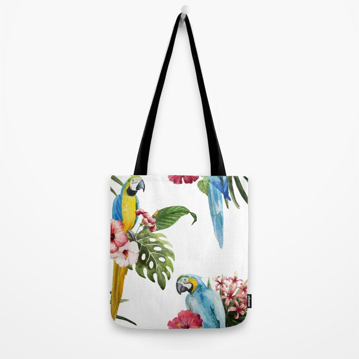 Tropical Bird Pattern 02 Tote Bag