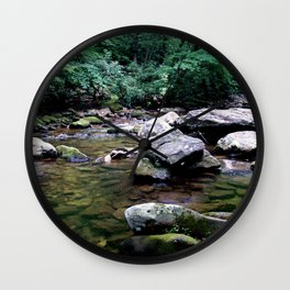 Serenity on the Rocks Wall Clock