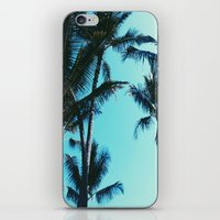 palm trees iPhone & iPod Skins featuring Palm Trees by Alexandra Str