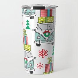 vintage christmas vans and presents Travel Mug