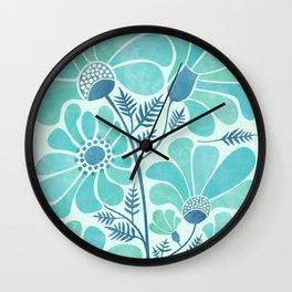 Himalayan Blue Poppies Wall Clock