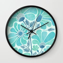 Himalayan Blue Poppies Wall Clock