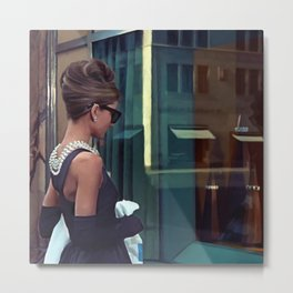 Audrey Hepburn #2 @ Breakfast at Tiffany's Metal Print