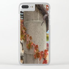 Column with Grapevine II Clear iPhone Case
