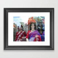 Reflections in a Sari Shop Window, Paris Framed Art Print