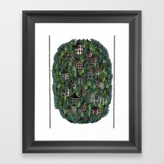 Little Forest Town Framed Art Print