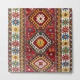 Genje Antique Caucasian Tribal  Carpet Metal Print