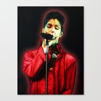 prince Canvas Prints featuring Prince by JR van Kampen