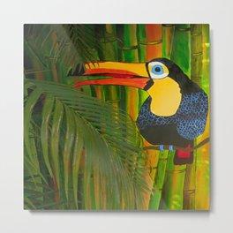 toucan and the bamboos Metal Print