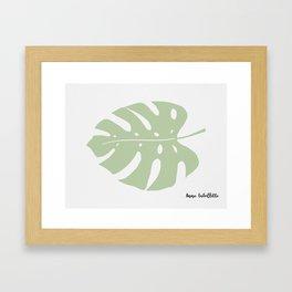 Monster leaf Framed Art Print