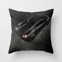 lamborghini Throw Pillows featuring Lamborghini Gallardo by Vasco Estrelado - Photographer