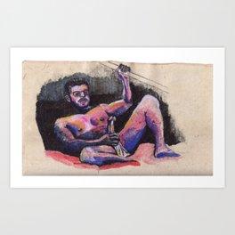 Retrato de Geo 2 Art Print