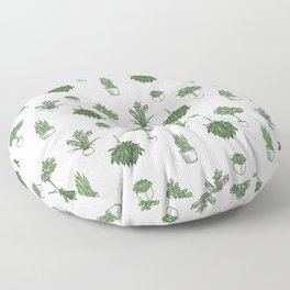 House Plants Pattern Floor Pillow