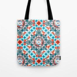 Decorative Lovebirds Tote Bag