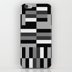 Black White and Gray iPhone & iPod Skin