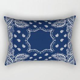 Bandana - Navy Blue - Boho Rectangular Pillow