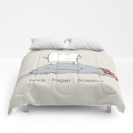 Rock Paper Scissors by dana alfonso Comforters