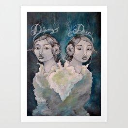 Lady Disdain Art Print