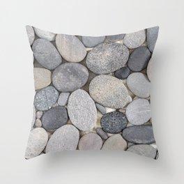 Smooth Grey Pebble Minimalistic Zen  Throw Pillow