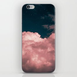 Pink night clouds iPhone Skin