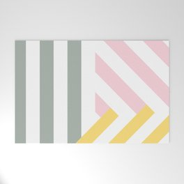 Summer stripes Welcome Mat