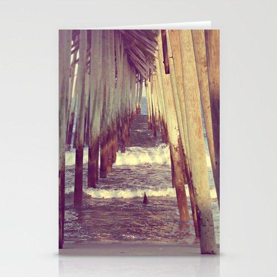 Carolina Beach Pier at Low Tide Stationery Cards