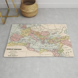 Vintage Map of The Roman Empire (1882) Rug