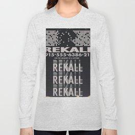 Rekall ( Total Recall ) Vintage magazine commercial. Long Sleeve T-shirt