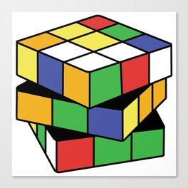 Retro Rubix Canvas Print