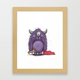 Groggy Monster Framed Art Print