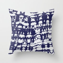 Discharge Fabric Pattern #1B Throw Pillow