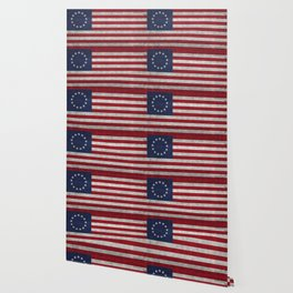 USA Betsy Ross flag - Vintage Retro Style Wallpaper