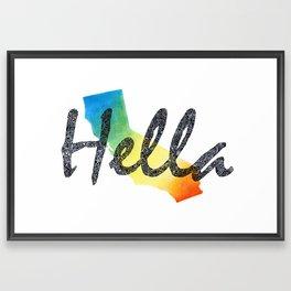 Hella Framed Art Print