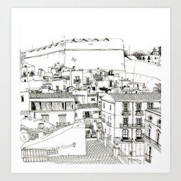 Ibiza old town view Art Print